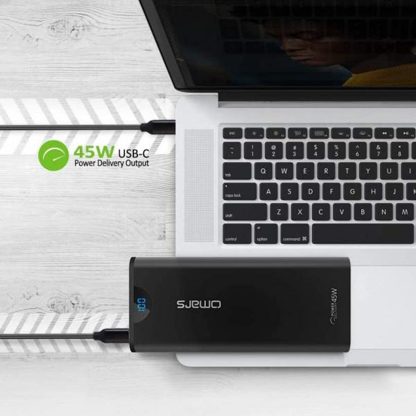 Batterie externe Sortie 45W pour Macbook Pro - 24.000mAh - Type C - Aluminium - OMARS