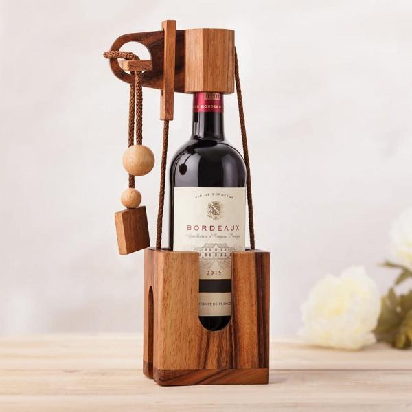 Casse-tête - Débloquer la bouteille de vin - Idée cadeau