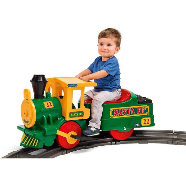 Train électrique avec siège enfant - Rail inclus - Dès 2 ans